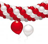 Set de décoration rouge et blanc