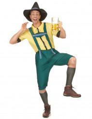 Déguisement bavarois jaune et vert homme