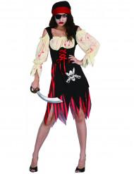 Déguisement pirate zombie adulte Halloween pour femme