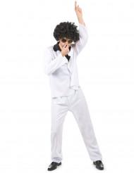 Déguisement disco homme costume blanc chemise noire