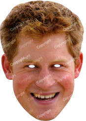 Masque carton Prince Harry