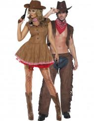 Déguisement couple cowgirl et cowboy