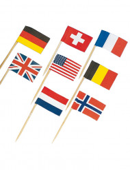 Mini piques drapeaux assortis