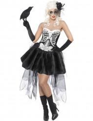 Déguisement squelette gothique femme Halloween