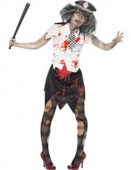 Déguisement zombie policière femme Halloween