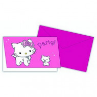 6 cartes d'invitation Charmmy Kitty™