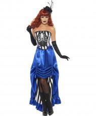Déguisement danseuse cabaret squelette femme Halloween