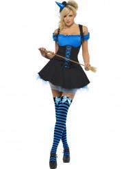 Déguisement sorcière sexy bleue femme Halloween