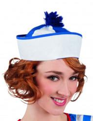 Chapeau marin à pompon bleu adulte