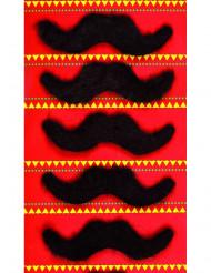 5 moustaches adhésives