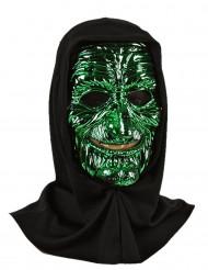 Masque de monstre jaune/vert adulte