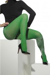 Collants verts à paillettes femme