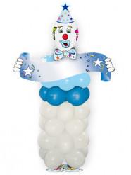 Kit ballons en forme de clown bleu