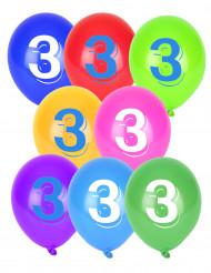 8 Ballons chiffre 3