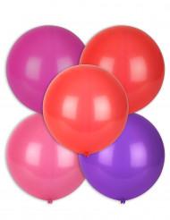 5 Ballons multicolores 47 cm