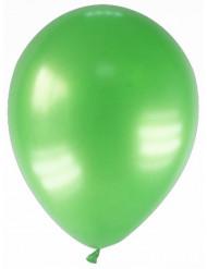 12 Ballons métallisés verts 28 cm