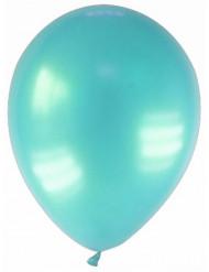 12 Ballons métallisés turquoise 28 cm