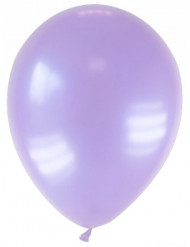 12 Ballons métallisés lavande 28 cm