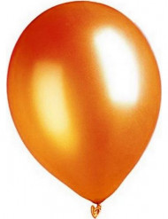 100 Ballons métalliques orange 29 cm