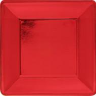 Grande assiette carrée rouge