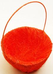 Panier en sisal orange
