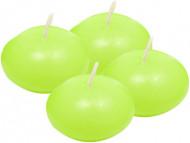 4 Bougies flottantes vert anis