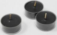 6 Bougies chauffe-plats noires 1,2 x 3,8 cm