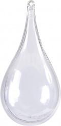 3 Contenants goutte d'eau transparents 11 cm