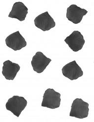 100 Pétales de rose en tissu noir 5 cm