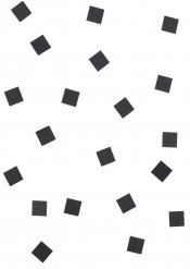 20 Mini miroirs carrés noirs 1,5 cm