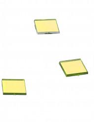 20 Mini miroirs carrés jaunes