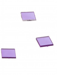 20 Mini miroirs carrés prune