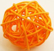 6 Boules en osier oranges 3,5 cm