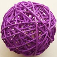Boule en osier prune (Dia. 10 cm)