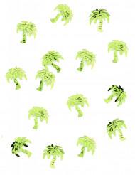 Confettis de table forme palmier verts