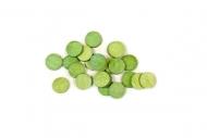 100 Petits confettis de table ronds verts 0,6 cm