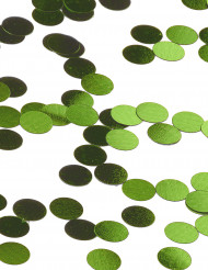 Confettis de table ronds verts 1.2cm