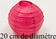 Boule de décoration fuchsia (Dia. 20 cm)