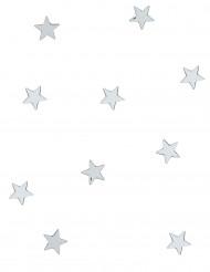 10 Mini miroirs étoiles argentés 3 x 3 cm