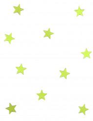 10 mini miroirs étoiles verts