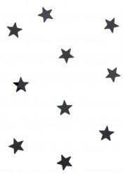 10 Mini miroirs étoiles noirs 3 x 3 cm
