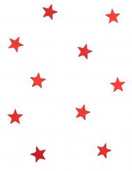 10 mini miroirs étoiles rouges