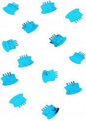 Confettis de table forme gâteau d'anniversaire turquoise
