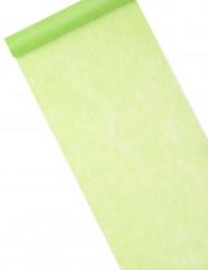 Chemin de table intissé vert 10 m