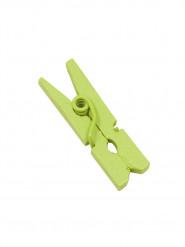 10 Mini pinces à linge en bois vert anis 2.5 cm