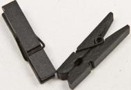 25 Pinces à linge en bois noires