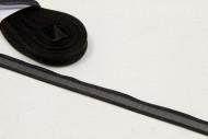 Ruban fin en organza noir 10 m x 6 mm