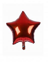 Ballon aluminium étoile rouge  23 cm