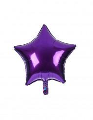 Ballon aluminium étoile violette 23 cm