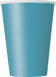 10 Gobelets en carton bleu caraïbe 355 ml